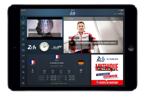 iPad mini Application 24H Le Mans