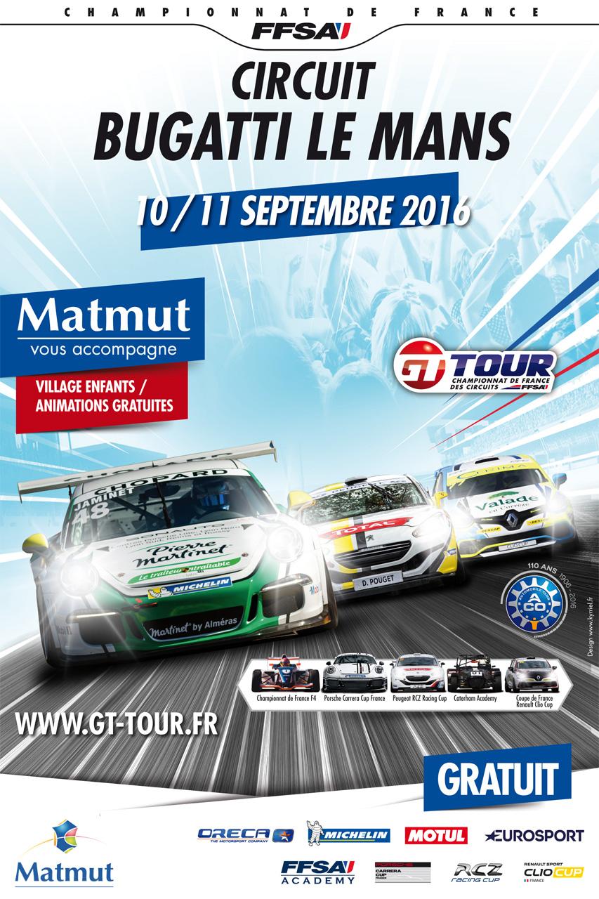 GT Tour Le Mans 10/11 Septembre 2016