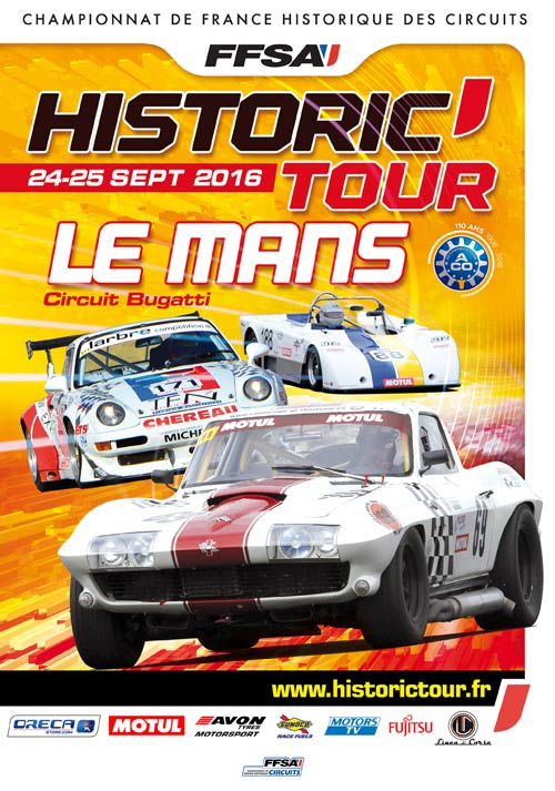 Historic Tour - Le Mans - 24/25 septembre 2016