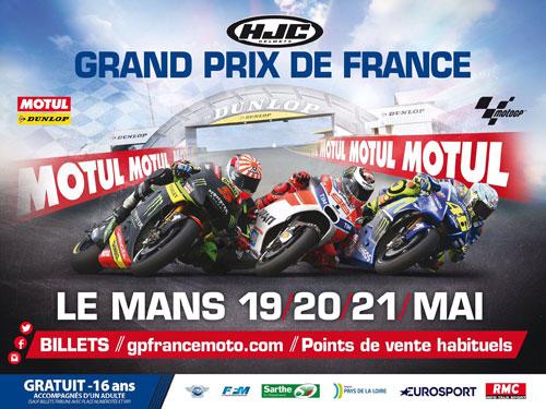 Poster Grand Prix de France Moto
