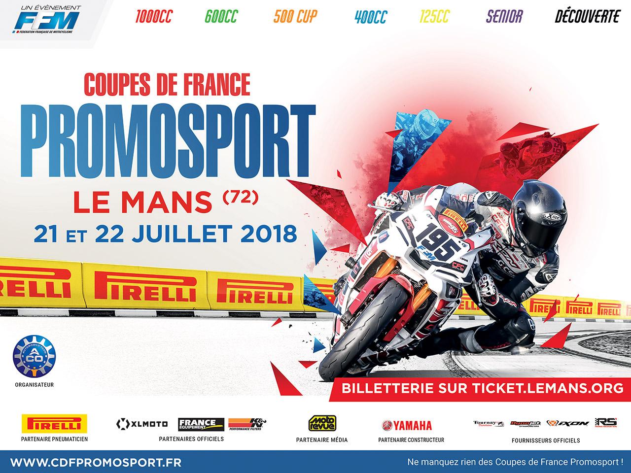 Coupe de France Promosport - Le Mans - 21/22 juillet 2018